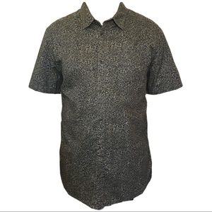 O'Neill leaf print short sleeve button up